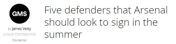 Arsenal defenders header